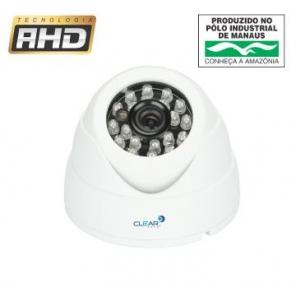 Camera Seguranca Dome AHD 1MP 720P 2.8mm Clear