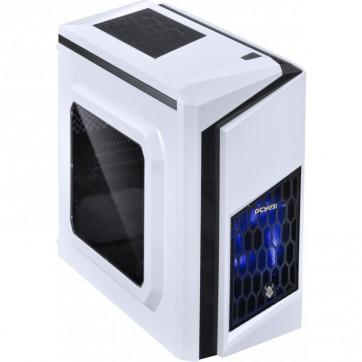 Gabinete Gamer Dwarf Dark Led Azul  - Branco -  PcYes