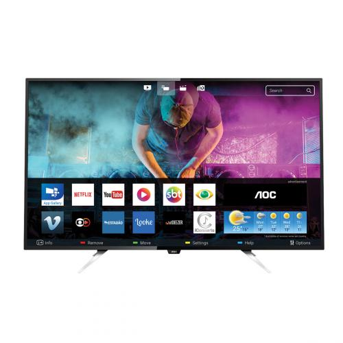 "Smart TV LED 50"" Ultra HD 4K LE50U7970 4 HDMI 3 USB AOC"