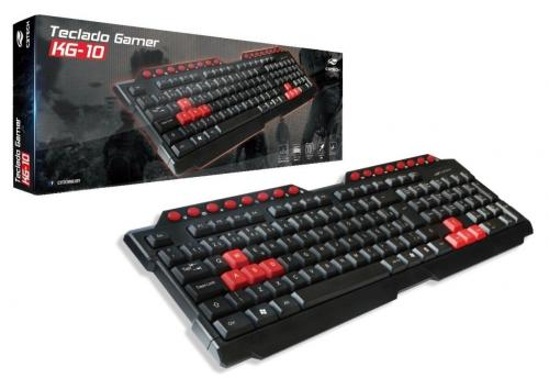Teclado Gamer USB Multimídia Preto KG-10BK C3 Tech