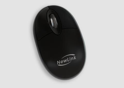 Mouse USB Fit MO303C Preto - NewLink
