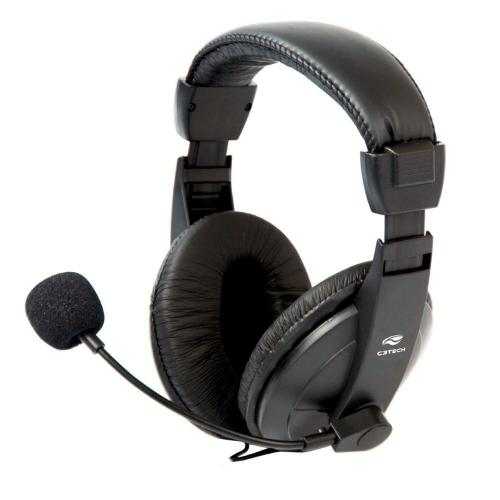 Fone Headset C3 Tech Voicer Confort Preto - MI-2260ARC